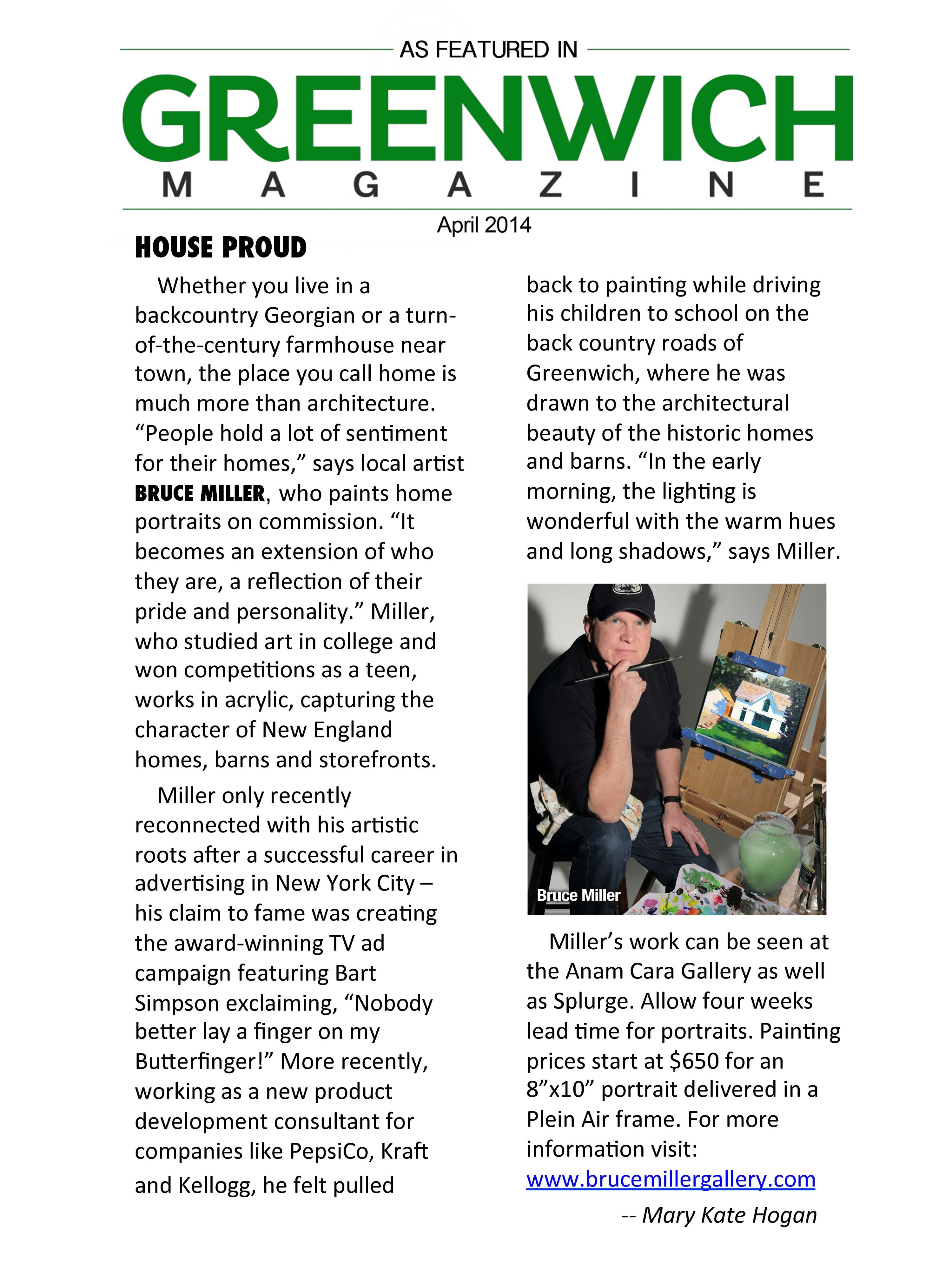 Greenwich mag article